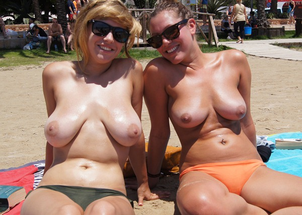 olivia and ana posing topless