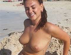 oregan topless on the beach